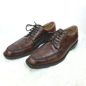 ECCO Brown Leather Oxfords Shoes Lace-Up Derby